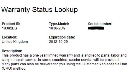 Lenovo Warranty